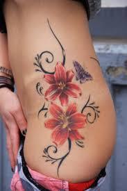 June Flower Tattoos - women classic fashion flower tattoos