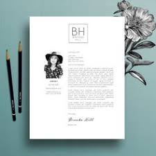 super chic modern resume template package cv template cover