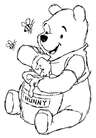 disney animal winnie pooh characters coloring pages