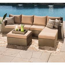 Patio Furniture Sectional Seating - hampton 6 piece seating sectional by sirio