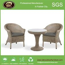 Wicker Armchair Outdoor Hotel Patio Outdoor Rattan Furniture Round Table With Chairs
