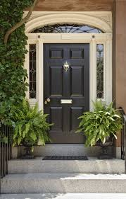 30 front door colors with tips for choosing the right one black