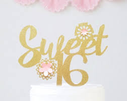 sweet sixteen cake topper gold number cake topper girls 16th