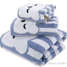 Bathroom Towel Sets by Brand Cotton Boys Bath Towel Set Blue Kids Towel Washcloth Hand