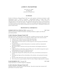 Accounts Payable And Receivable Resume Cover Letter Sample Collections Resume Sample Collections Resume