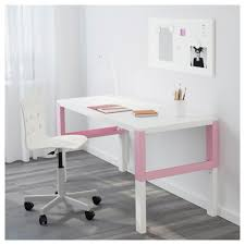 Pink Computer Desk Påhl Desk White Pink Ikea