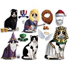 Cool Cat Halloween Costume Black White Cat Dress Magnets 12 95 Cool Cat Lady