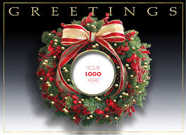 Holiday Business Cards Wreath Logo Christmas Cards Holiday Card Website