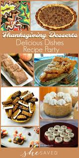 delicious dishes favorite thanksgiving desserts shesaved