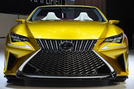 lexus lf c2 lexus unveils 400 plus horsepower gold lf c2 to beat own