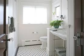 White Pebble Tiles Bathroom - dc metro white pebble tile bathroom craftsman with crystal door