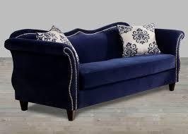 Nailhead Sleeper Sofa Blue Fabric Sofa Nailhead Trim