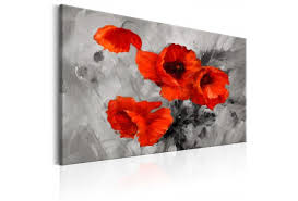 poppies flowers canvas print steel poppies poppies flowers canvas prints