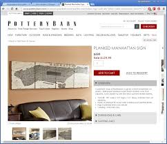 Pottery Barn New York City Pottery Barn Inspired New York Tiled Map Diy Scavenger Chic