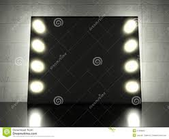makeup mirror with light bulbs background royalty free stock