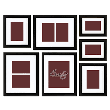 Wall Picture Frames by 7pc Black Wall Set 07a