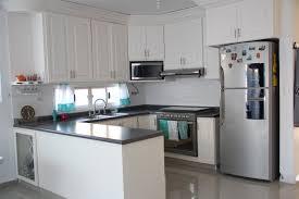 Long Kitchen Curtains by White Traditional Kitchen Long Horizontal Window Daltile White