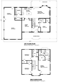 Narrow Lot House Plans With Basement by Small Two Story House Plans Hahnow