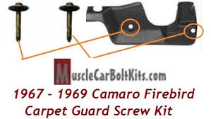 1967 camaro carpet 1967 1969 camaro firebird firewall carpet guard bolt kit