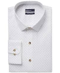 bar iii carnaby collection slim fit white navy polka dot print