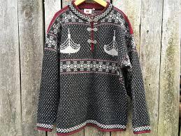vintage norwegian sweater scandinavian sweater nordic pattern