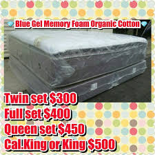 best blue gel hybrid memory foam mattress and boxspring for sale