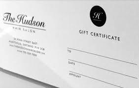 salon gift card hair salon gift certificates in huntsville ontario buy print