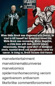 Spiderman Meme Cancer - facts comic when eddie brock was diagnosed with cancer he tried to
