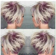 funky hairstyle for silver hair color peek thru hair ideas pinterest hair style short hair