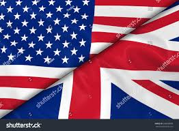 flags usa uk divided diagonally 3d stock illustration 296698808