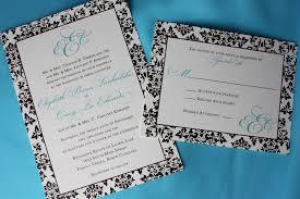 Damask Wedding Invitations Chocolate Brown Damask With Tiffany Blue Monogram Emdotzee Designs