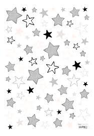 graue sterne lilipinso kinderzimmer wandtattoo u0027sterne u0027 schwarz grau rosa auf
