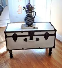 Vintage Trunk Coffee Table Table Silver Trunk Coffee Table With Wheels Old Chest Square White