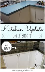 Update Kitchen Cabinets With Paint Best 25 Kitchen Cupboard Redo Ideas On Pinterest Painting
