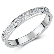 palladium rings reviews 3mm palladium 1 6 carat diamond half eternity ring palladium