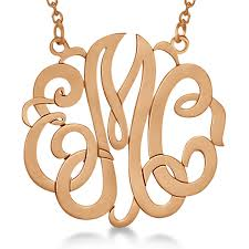 monogrammed pendant necklace personalized monogram pendant necklace in 14k gold allurez