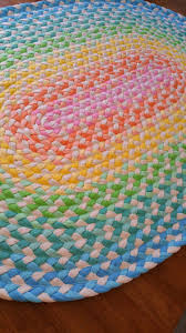 50 off 40 x 58 sale pastel and natural rainbow braided cotton