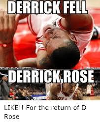 derrick fell wabato derrick rose like for the return of d rose