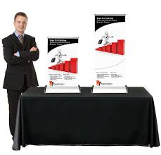 table top flag stands expo pro table top retractable table top banner stand