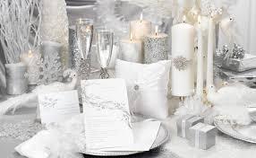 awesome white wedding theme white silver