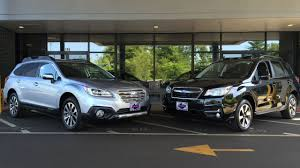 subaru outback 2017 interior 2017 subaru forester vs 2017 subaru outback youtube