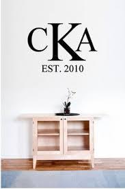 custom script monogram vinyl decal vinyl art letter decals home