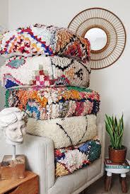 moroccan boucherouite pouf boucherouite rug a personal favorite