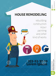 Business Cards Painting House Remodeling Business Card Or Banner Stock Vector Image