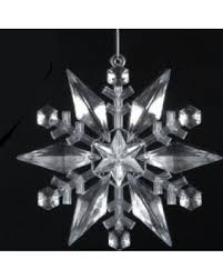 spectacular deal on acrylic snowflake ornament 4 75 inch