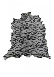 Leather Area Rug Goat Hide Leather Area Rug Printed With Tiger Imitation Size