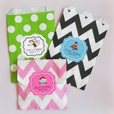 personalized goodie bags personalized kid birthday chevron dots goodie bags candy
