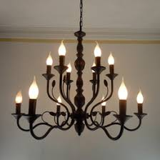 discount wrought iron chandeliers for candles 2017 wrought iron