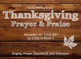 calvary bible church burbank ca thanksgiving prayer praise service