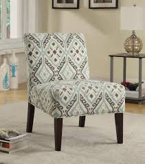 Light Blue Accent Chair Beige Brown Light Blue Printed Chair Brown And Teal Contemporary